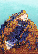 Cards Pastels Originals - The Grand Teton by Abbie Groves