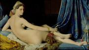 Jean Paintings - The Grande Odalisque by Ingres