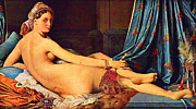 Ingres Paintings - The Grande Odalisque by Pg Reproductions
