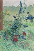 Vines Paintings - The Grandfather by Carl Larsson