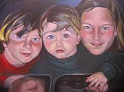 Portraits Paintings - The Grandkids by Kaytee Esser