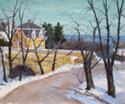 Rockport Paintings - The Granite Company Building by Chris Coyne