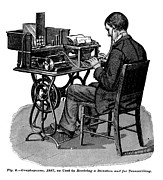 Typewriter Photos - The Graphophone, An Early Recording by Everett