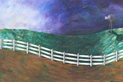 Moody Paintings - The grass is greener on the other side by Missy Yake