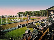 Fairs Paintings - The Great Allentown Fair Racetrack Around 1910 by Dwight Goss