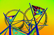Amusement Park Ride Framed Prints - The Great Amusement Park Ride Framed Print by David Lee Thompson