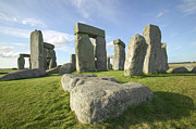 Amesbury Photos - The Great And Ancient Stone Circle Of Stonehenge, One Of The Wonders Of The World, In Wiltshire, England by VisitBritain/Martin Brent