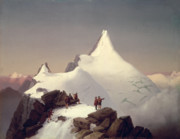 Mountain Snow Landscape Paintings - The Great Bellringer by Marcus Pernhart