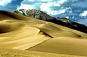 Sand Dunes Metal Prints - The Great Colorado Sand Dunes Color Print Metal Print by James Bo Insogna