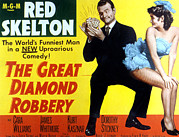 Skelton Framed Prints - The Great Diamond Robbery, Red Skelton Framed Print by Everett