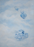 Clouds Mixed Media Originals - The Great Escape by Konrad Geel