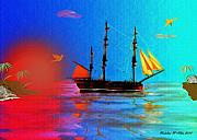 Tall Ship Prints - The Great Escape Print by Madeline  Allen - SmudgeArt