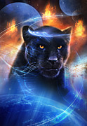 Mystical Metal Prints - The Great Feline Metal Print by Philip Straub