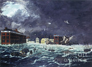 Flooding Prints - The Great Gale Of 1815 Print by Science Source