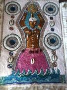 Great Tapestries - Textiles Metal Prints - The Great Mother Metal Print by Sula janet Evans