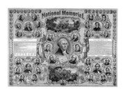 Abraham Lincoln Drawings Posters - The Great National Memorial Poster by War Is Hell Store