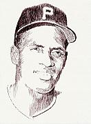 Clemente Drawings Posters - The Great One Poster by Robbi  Musser