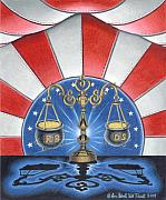 Tea Party Drawings - The Great Political Blue Light Specials by In God We Trust formerly known as Steve Kreuscher