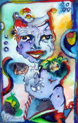 Jester Mixed Media Framed Prints - The Great Pretender Framed Print by Mindy Newman
