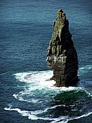 Moher Prints - The Great Sea Stack Brananmore Cliffs of Moher Ireland Print by Teresa Mucha