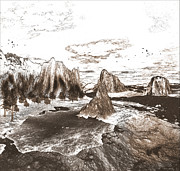 Great Mixed Media - The Great southwest in Black and White by Heinz Mielke