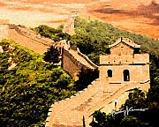 Anthony Caruso Framed Prints - The Great Wall of China Framed Print by Anthony Caruso