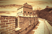 Travel China Posters - The Great Wall of China Poster by Giancarlo Liguori