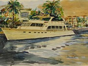 Boaters Painting Prints - The Great White Print by Jerry Smietanka
