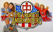 Board Mixed Media Originals - The Greatest American Hero by Cliff Spohn