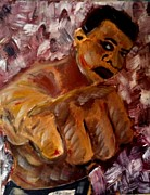 Boxer Paintings - The Greatest by J Von Ryan