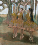 Trio Framed Prints - The Greek Dance Framed Print by Edgar Degas