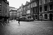 Overcast Day Photo Prints - The Green Aberdeen Old Town City Centre Scotland Uk Print by Joe Fox