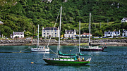 Ocean Shore Prints - The Green Boat at Mallaig Harbour Print by Zoe Ferrie