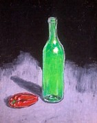 Vinegar Prints - The green bottle  Print by Dawn marie  Nabong