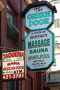Stockton Street Tunnel Posters - The Green Door San Francisco Poster by Wingsdomain Art and Photography