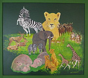 Gazelle Paintings - The Green Dream by Pat Barker