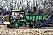 Dump Truck Framed Prints - The Green Dump Truck Framed Print by Bill Cannon