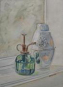 Glass Reflections Originals - The Green Mister by Jenny Armitage