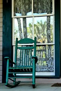 The Green Rocker Print by Theresa Willingham