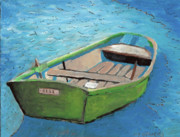 Mirror Paintings - The Green Rowboat by William Bowers
