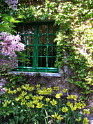 Eure Metal Prints - The Green Trimmed Window at Monets Pink House  Metal Print by Danny Cieloha