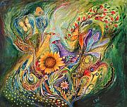 Hebrew Paintings - The Green World by Elena Kotliarker