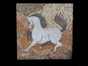 Mosaic Mixed Media - The Grey in Profile by Katherine Sutcliffe