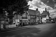 Greyhound Digital Art - The Greyhound Pub Lingfield Surrey by Donald Davis
