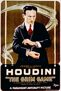 1910s Poster Art Posters - The Grim Game, Harry Houdini, 1919 Poster by Everett