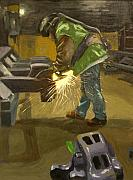 Industrial Paintings - The Grinder by Martha Ressler