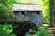 Gatlinburg Tennessee Digital Art Prints - The Grist Mill Print by Barry Jones