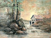 The Grist Mill Print by Gary Partin