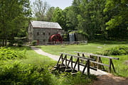 Wayside Inn Grist Mill Framed Prints - The Grist Mill Framed Print by Lee Fortier