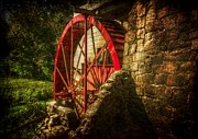 Christine Annas Posters - The Gristmills Waterwheel Poster by Christine Annas